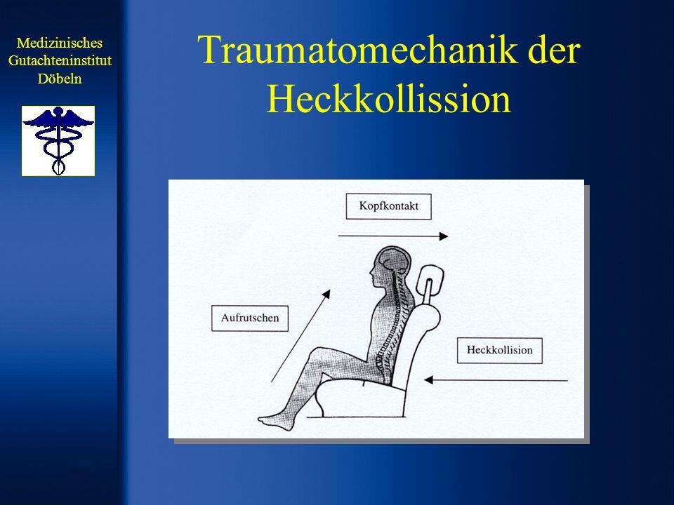Traumatomechanik der Heckkollission Medizinisches Gutachteninstitut Döbeln