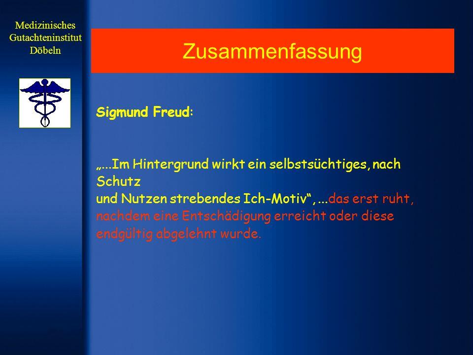 Zusammenfassung Sigmund Freud:...Im Hintergrund wirkt ein selbstsüchtiges, nach Schutz und Nutzen strebendes Ich-Motiv,...das erst ruht, nachdem eine