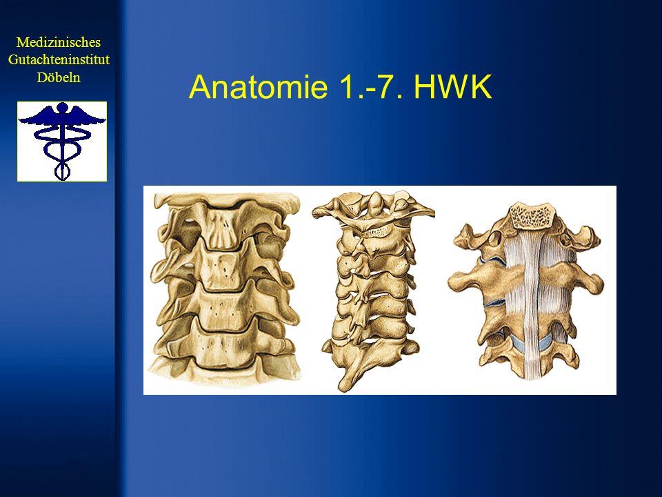 Gutachterliche Bewertung Nach Ausschluss von strukturellen Traumafolgen am Knochen durch die Notfalldiagnostik, ist bei persistierenden subjektiven Beschwerden ein MRT der Halswirbelsäule erforderlich.