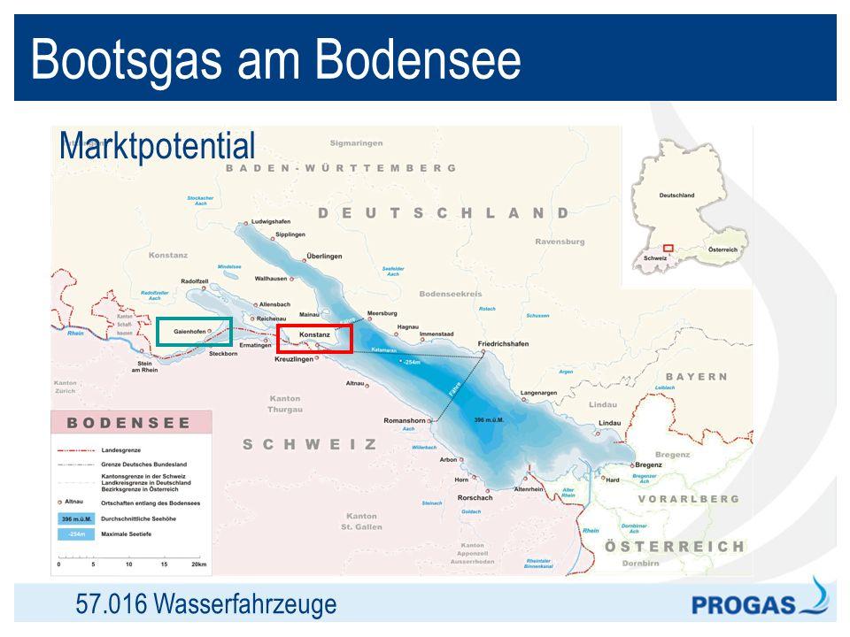 Bootsgas am Bodensee Marktpotential 57.016 Wasserfahrzeuge