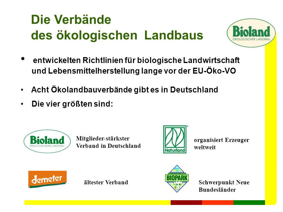 Die Verbände des ökologischen Landbaus entwickelten Richtlinien für biologische Landwirtschaft und Lebensmittelherstellung lange vor der EU-Öko-VO Ach