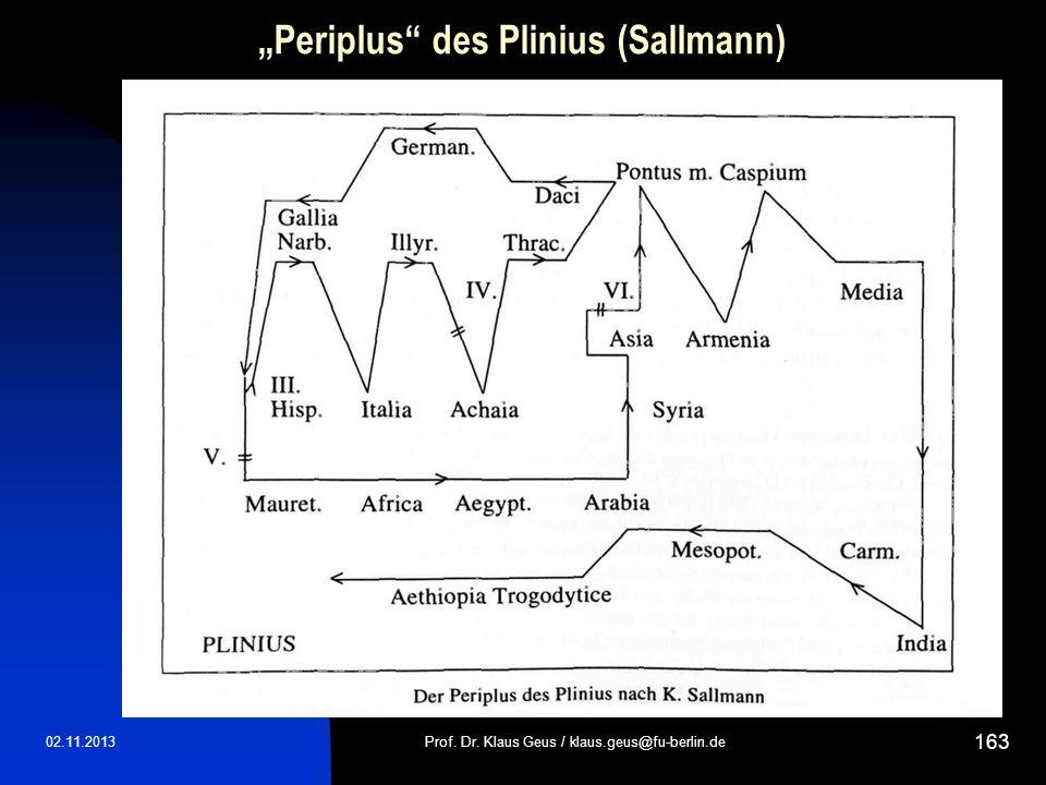 Periplus des Plinius (Sallmann) 02.11.2013Prof. Dr. Klaus Geus / klaus.geus@fu-berlin.de 163
