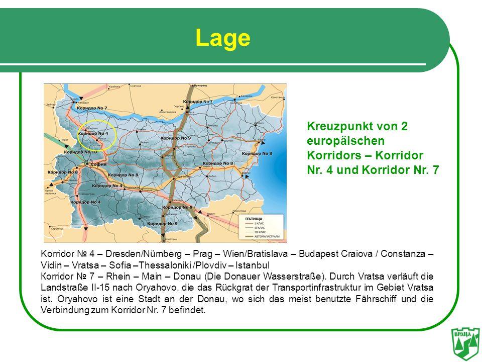 Lage Korridor 4 – Dresden/Nürnberg – Prag – Wien/Bratislava – Budapest Craiova / Constanza – Vidin – Vratsa – Sofia –Thessaloniki /Plovdiv – Istanbul