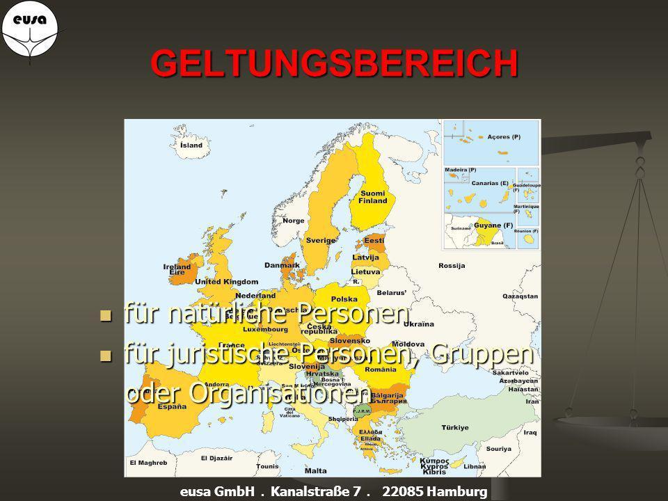 eusa-DIENSTLEISTUNG bietet Schutz vor Strafe, Abschöpfung und Imageverlust eusa GmbH. Kanalstraße 7. 22085 Hamburg