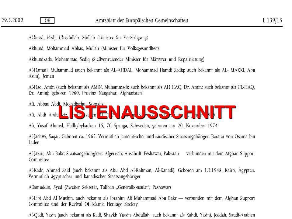 eusa -KONTROLLEN Vorsorgendurch lückenlose und regelmäßige Überwachung aller Listeneintragungen eusa GmbH. Kanalstraße 7. 22085 Hamburg