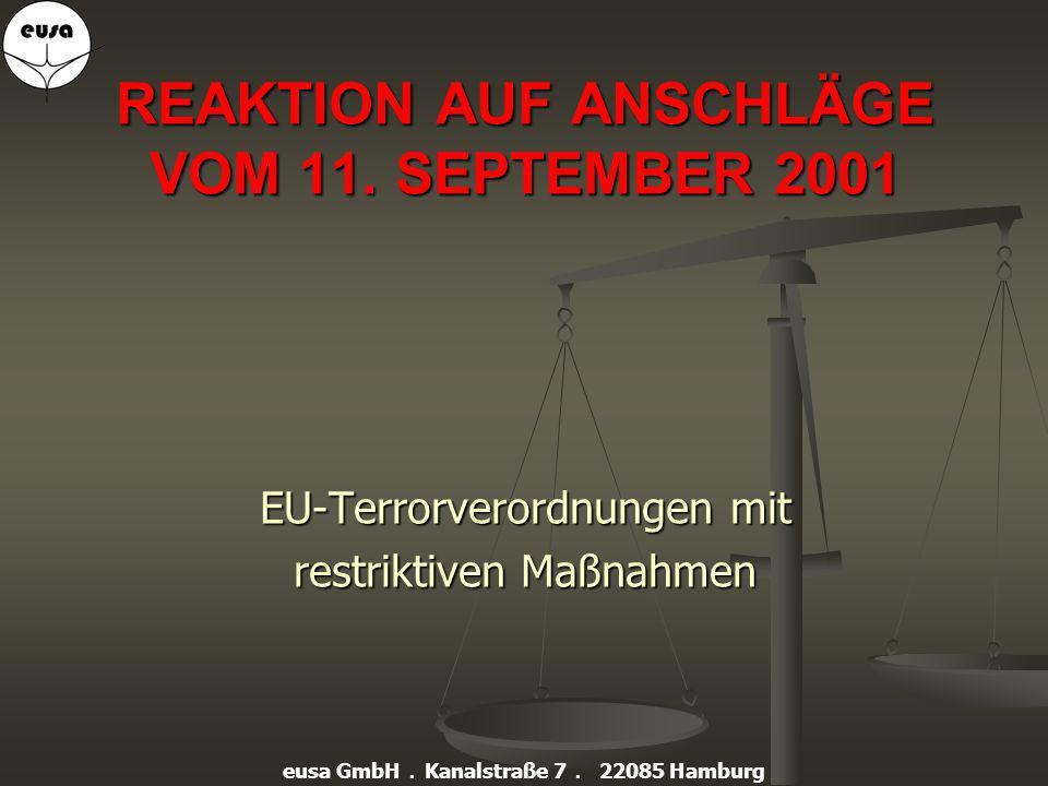 Sicherheit im Umgang mit EU-gelisteten Personen und Organisationen designed by h-e-r-a 2007 eusa GmbH.