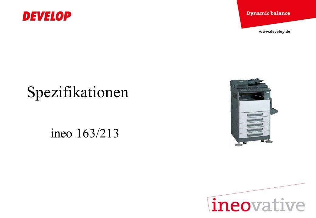 Spezifikationen ineo 163/213