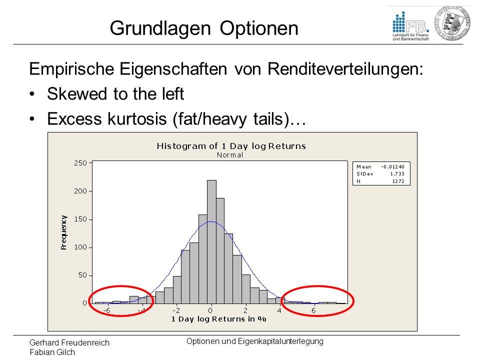 Gerhard Freudenreich Fabian Gilch Optionen und Eigenkapitalunterlegung Delta-Plus-Methode Dichtefunktion der Standardnormalverteilung:
