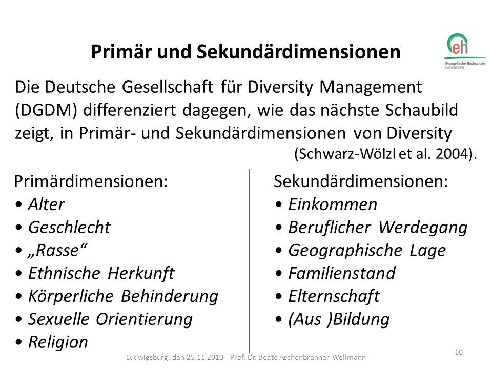 Das Diversity-Rad Ludwigsburg, den 25.11.2010 - Prof. Dr. Beate Aschenbrenner-Wellmann 11