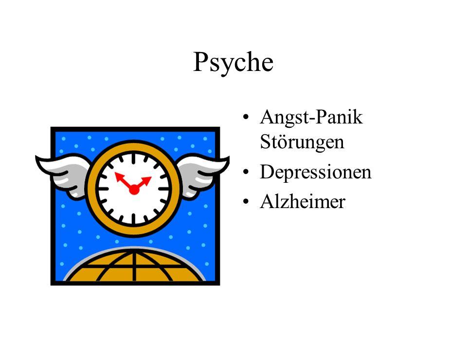 Psyche Angst-Panik Störungen Depressionen Alzheimer