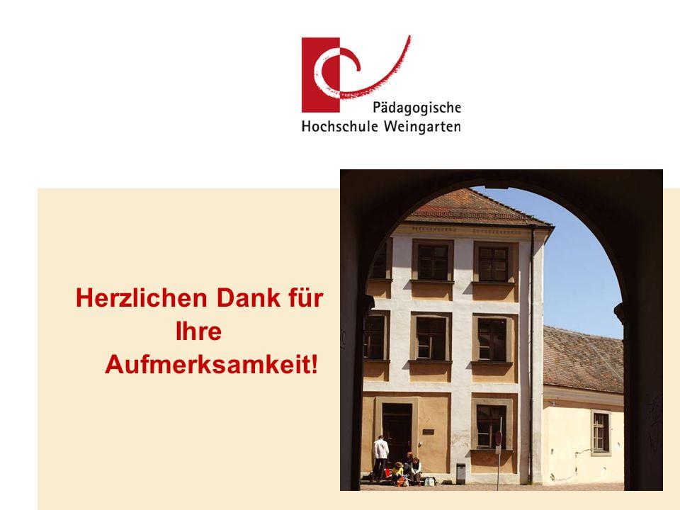 PH Weingarten, 09.07.08 Referent: PD. Dr. phil. Schnaitmann, M.A. Folie 11 Herzlichen Dank für Ihre Aufmerksamkeit!