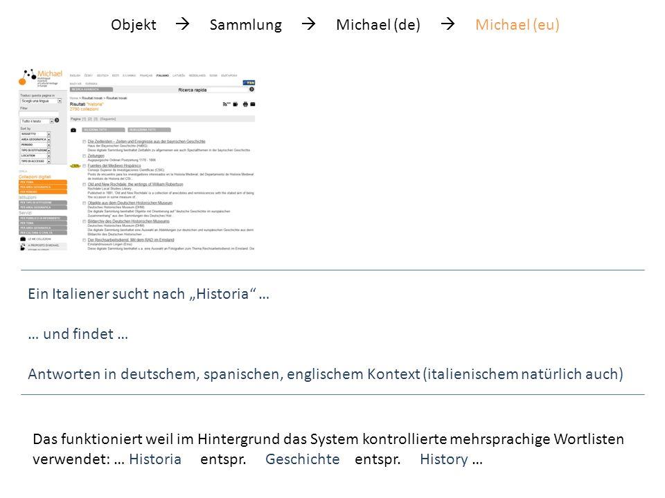 Objekt Sammlung Michael (de) Michael (eu) Man kann auch thematisch suchen …