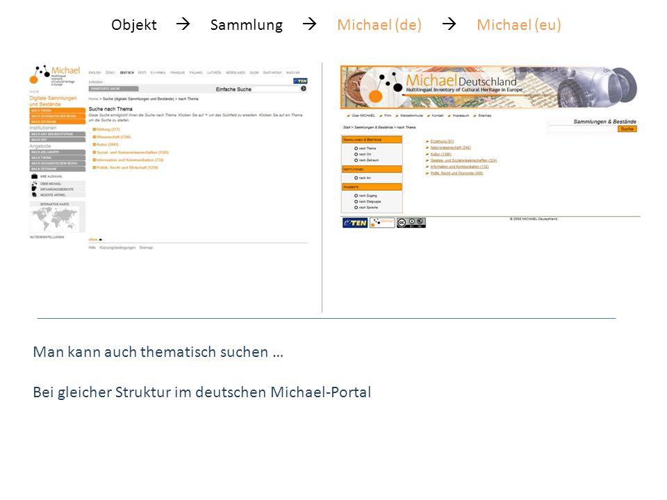 Das deutsche Michael-Portal www.michael-portal.de Objekt Sammlung Michael (de) Michael (eu)