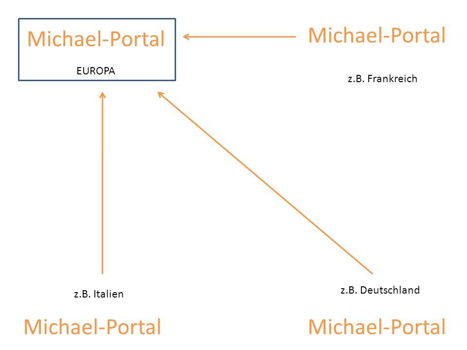 Michael-Portal z.B. Frankreich z.B. Deutschland z.B. Italien Michael-Portal EUROPA