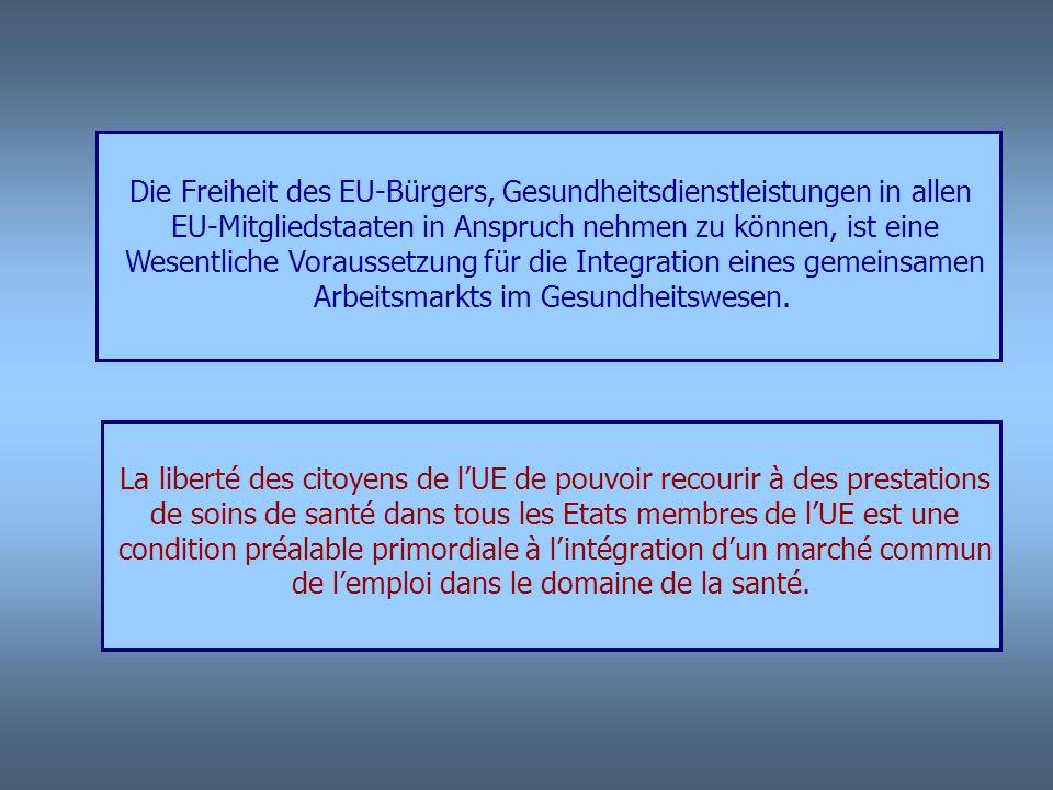 ÜBERBLICK ÜBER DAS GESUNDHEITSWESEN IN DER EU (Auszug) insb in Saar-Lor-Lux-Rheinland-Pfalz