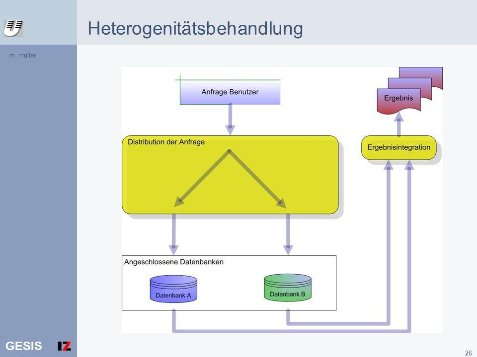 GESIS 26 Heterogenitätsbehandlung m. müller