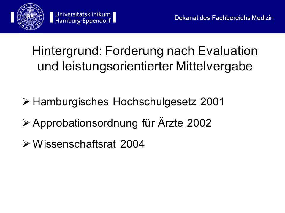 Dekanat des Fachbereichs Medizin Wissenschaftsrat 2004 wesentlich (ist), finanzielle Anreizstrukturen für die Lehre zu etablieren.