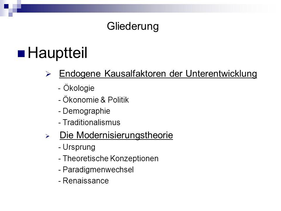 Hauptteil – Modernisierungstheorie – Theoretische Konzeptionen R.