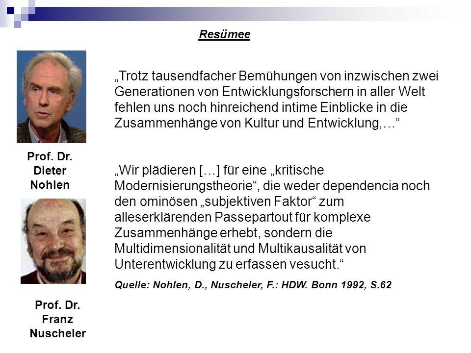 Prof. Dr. Dieter Nohlen Prof. Dr. Franz Nuscheler Trotz tausendfacher Bemühungen von inzwischen zwei Generationen von Entwicklungsforschern in aller W
