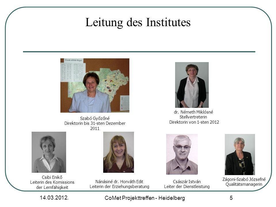 14.03.2012. CoMet Projekttreffen - Heidelberg 6 Mitarbeiter und Mitarbeiterinnen