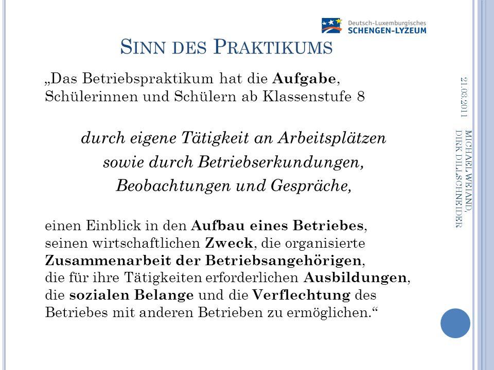 N ACHBEREITUNG (1) Reflexion in Zusammenarbeit mit dem SPOS: 19.