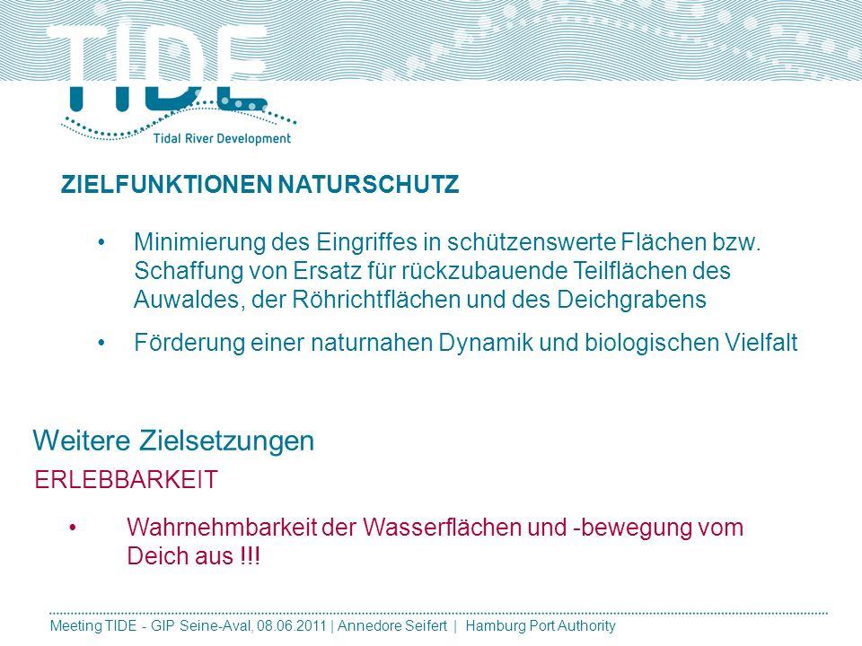 Meeting TIDE - GIP Seine-Aval, 08.06.2011 | Annedore Seifert | Hamburg Port Authority 1.In folgenden Kriterien weisen die Varianten bewertungsrelevant