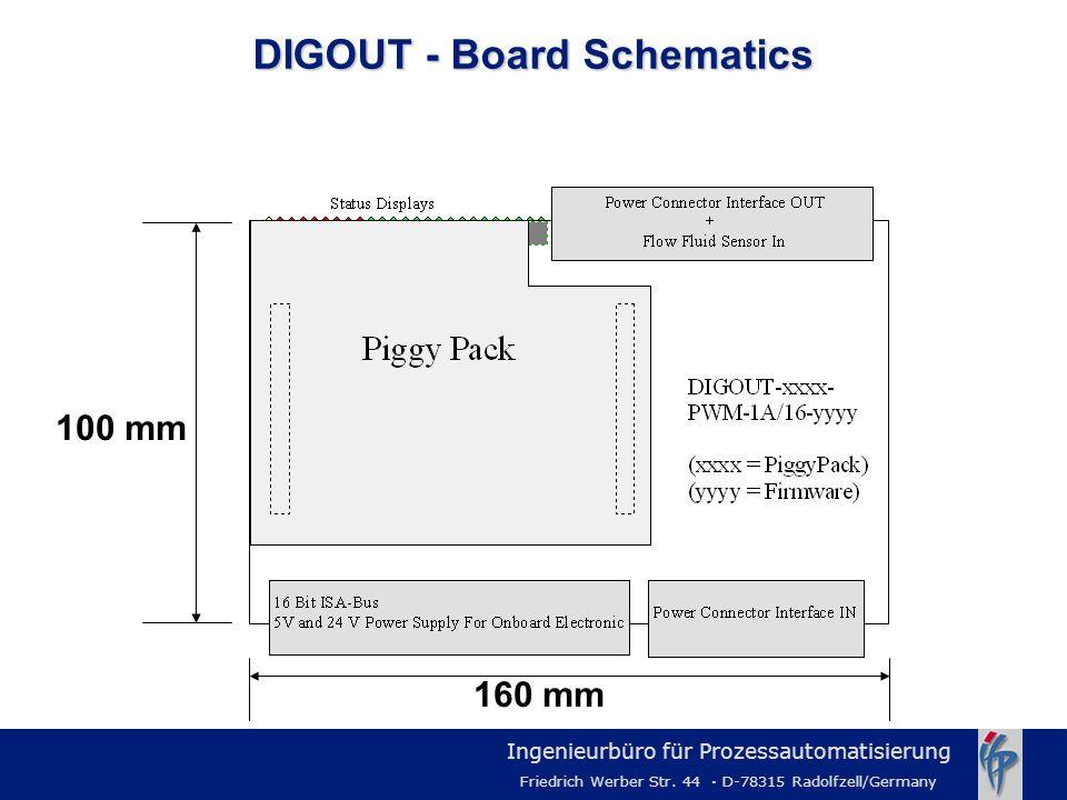Ingenieurbüro für Prozessautomatisierung Friedrich Werber Str. 44 · D-78315 Radolfzell/Germany DIGOUT - Board Schematics 100 mm 160 mm
