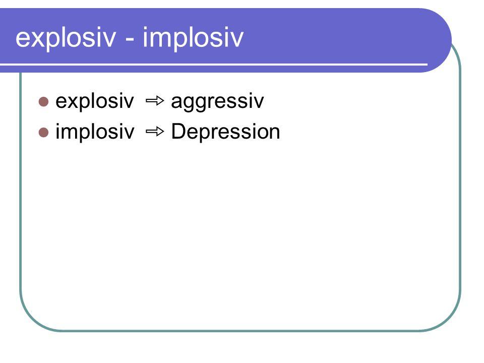 explosiv - implosiv explosiv aggressiv implosiv Depression