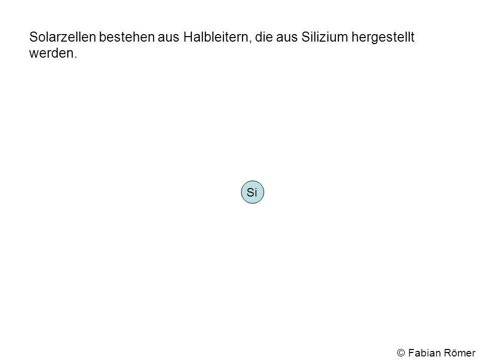 Jedes Siliziumatom hat vier Elektronen auf der äußeren Schale. Si © Fabian Römer