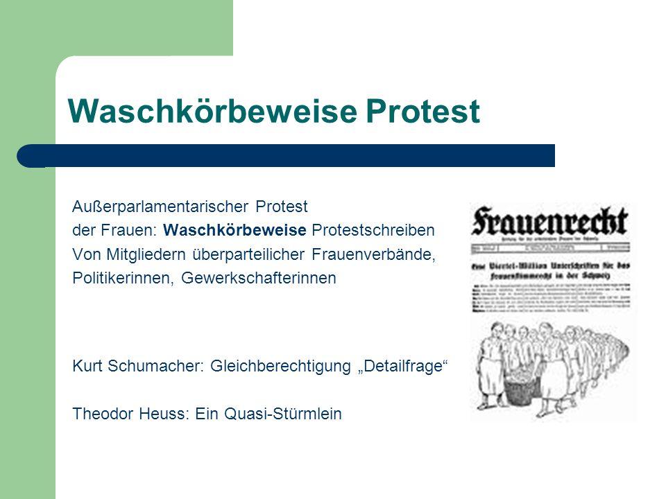 Waschkörbeweise Protest Außerparlamentarischer Protest der Frauen: Waschkörbeweise Protestschreiben Von Mitgliedern überparteilicher Frauenverbände, P
