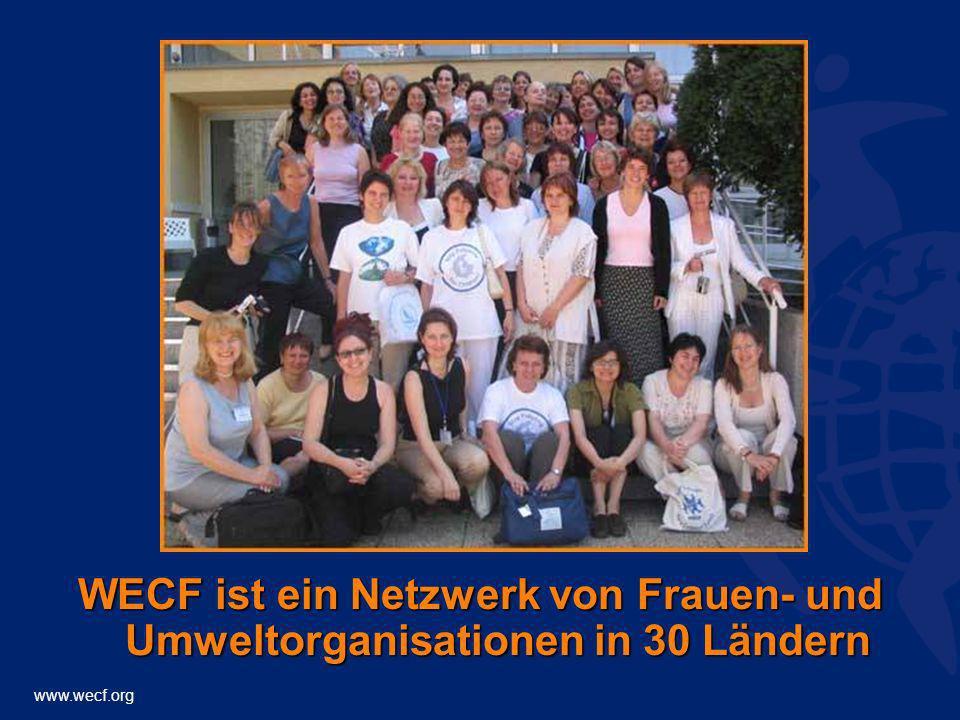 www.wecf.org WECF ist ein Netzwerk von Frauen- und Umweltorganisationen in 30 Ländern