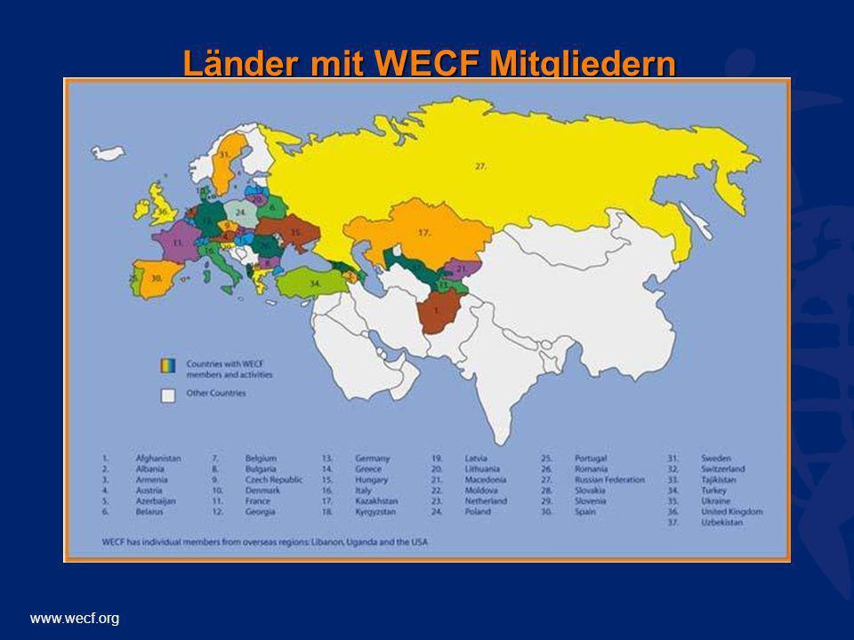 www.wecf.org Länder mit WECF Mitgliedern