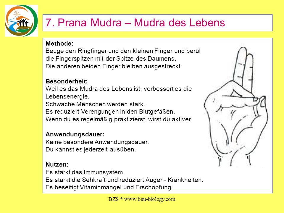BZS * www.bau-biology.com Methode: Beuge den Ringfinger und den kleinen Finger und berühre die Fingerspitzen mit der Spitze des Daumens. Die anderen b