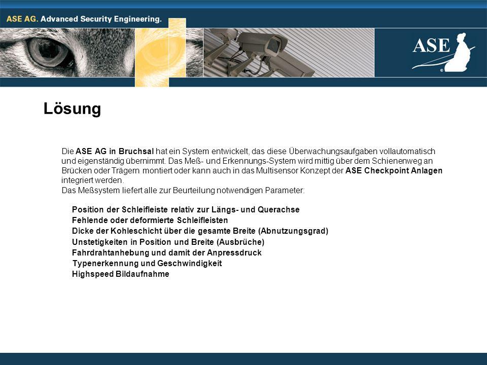Lösung Die ASE AG in Bruchsal hat ein System entwickelt, das diese Überwachungsaufgaben vollautomatisch und eigenständig übernimmt. Das Meß- und Erken