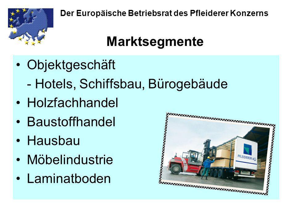 Der Europäische Betriebsrat des Pfleiderer Konzerns Produkte Rohspanplatten MDF-Platten MultifunktionsplattenRohspan-Verlegeplatten Pyroex-Platten (nicht brennbar) Melaminbeschichtete Platten