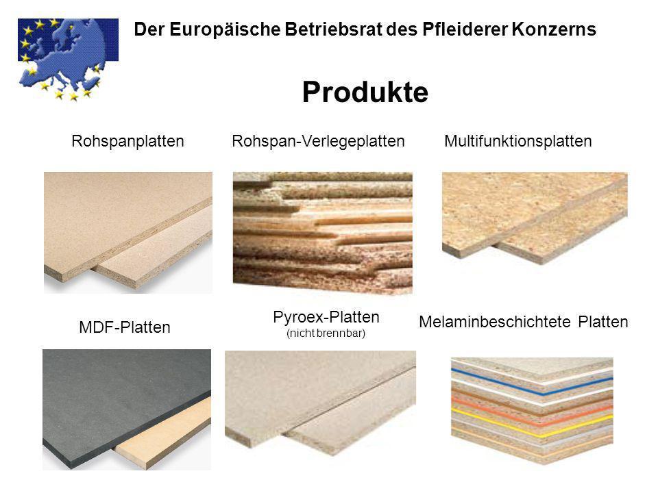 Der Europäische Betriebsrat des Pfleiderer Konzerns Produkte Rohspanplatten MDF-Platten MultifunktionsplattenRohspan-Verlegeplatten Pyroex-Platten (ni