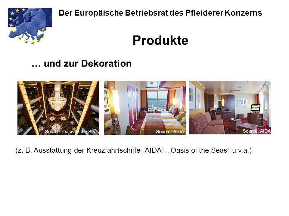 Der Europäische Betriebsrat des Pfleiderer Konzerns Vielen Dank für Ihre Aufmerksamkeit…