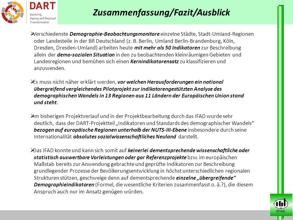 Verschiedenste Demographie-Beobachtungsmonitore einzelne Städte, Stadt-Umland-Regionen oder Landesteile in der BR Deutschland (z. B. Berlin, Umland Be