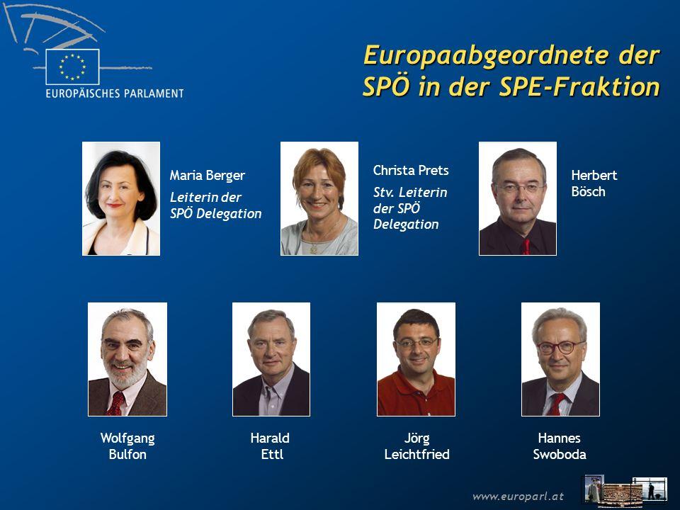www.europarl.at Europaabgeordnete der ÖVP in der EVP-ED Fraktion Othmar Karas Leiter der ÖVP Delegation Paul Rübig Hubert Pirker Reinhard Rack Stv.