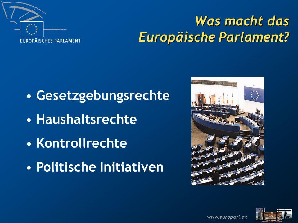 www.europarl.at Das institutionelle Dreieck Die Europäische Kommission Der Ministerrat Das Europäische Parlament
