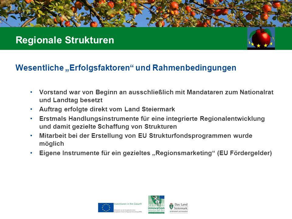 Wesentliche Erfolgsfaktoren und Rahmenbedingungen Vorstand war von Beginn an ausschließlich mit Mandataren zum Nationalrat und Landtag besetzt Auftrag