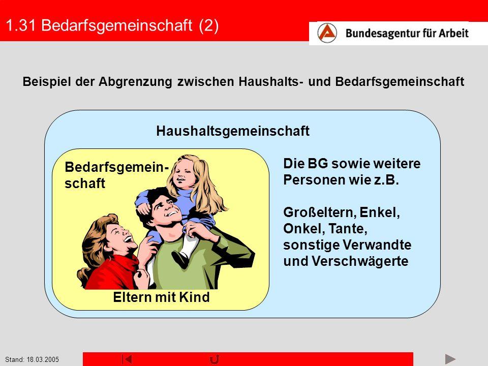 Stand: 18.03.2005 2.23 Sozialgeld (4) Beispiel 2: Frau Schulzes 57-jähriger Ehemann bezieht eine befristete volle Er- werbsminderungsrente.