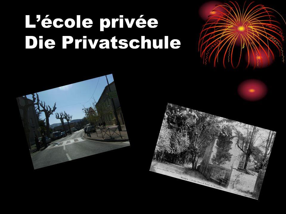 Lécole privée Die Privatschule