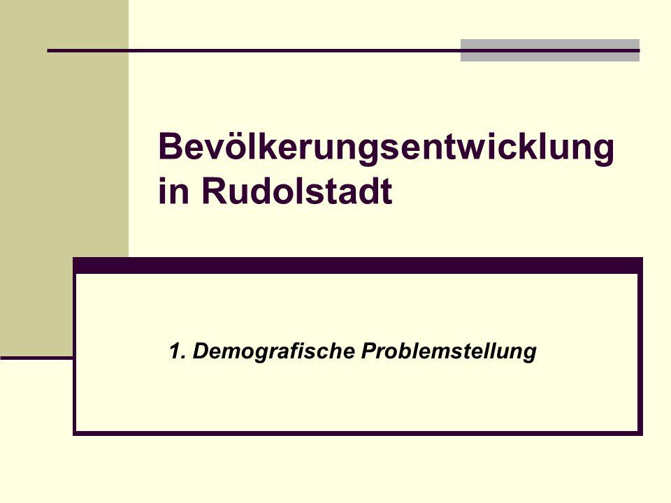 Bevölkerungsentwicklung in Rudolstadt 1. Demografische Problemstellung