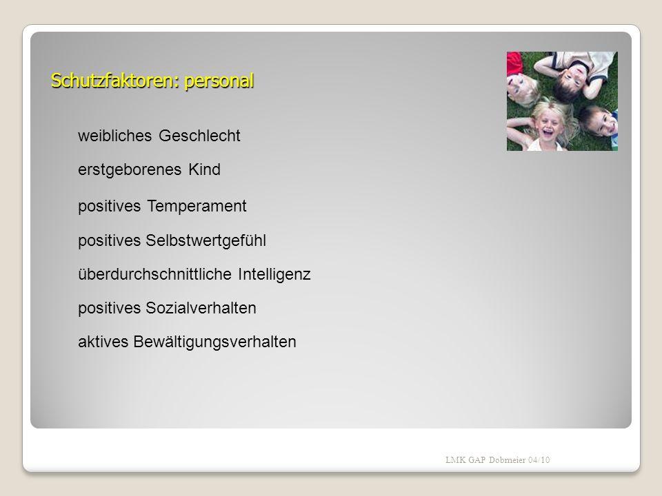 Moderierende Faktoren Merkmale des Partners Zeitpunkt/Verlauf/Schwere der Erkrankung kindliche Merkmale - Aktivitätsgrad - soziale Kompetenz - Intelli