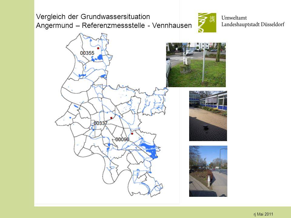 rj Mai 2011 Vergleich der Grundwassersituation Angermund – Referenzmessstelle - Vennhausen