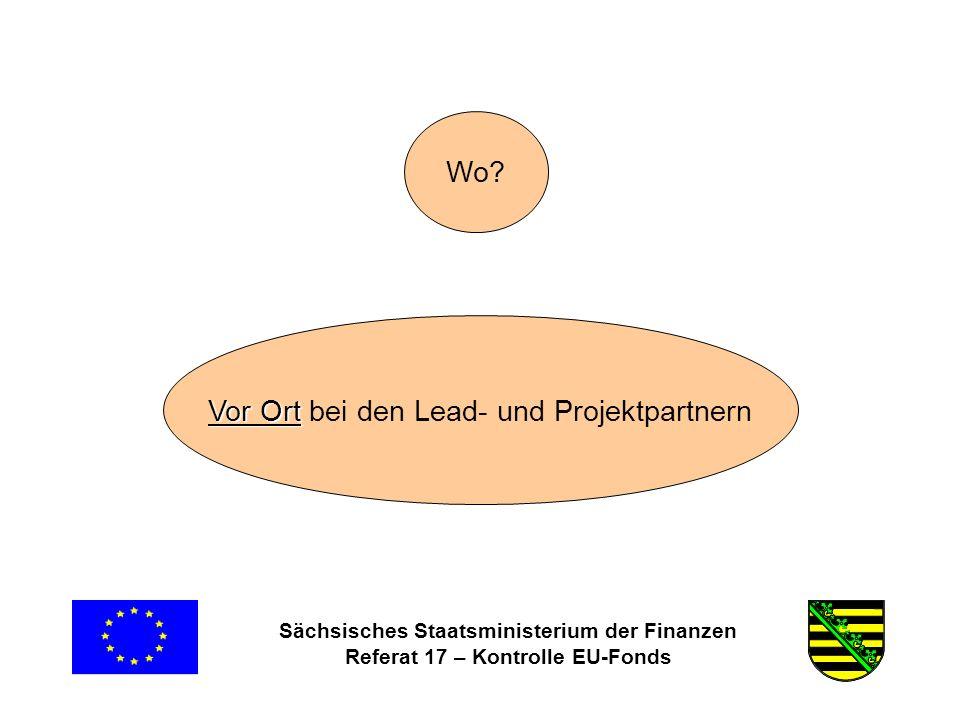 Sächsisches Staatsministerium der Finanzen Referat 17 – Kontrolle EU-Fonds Wo.