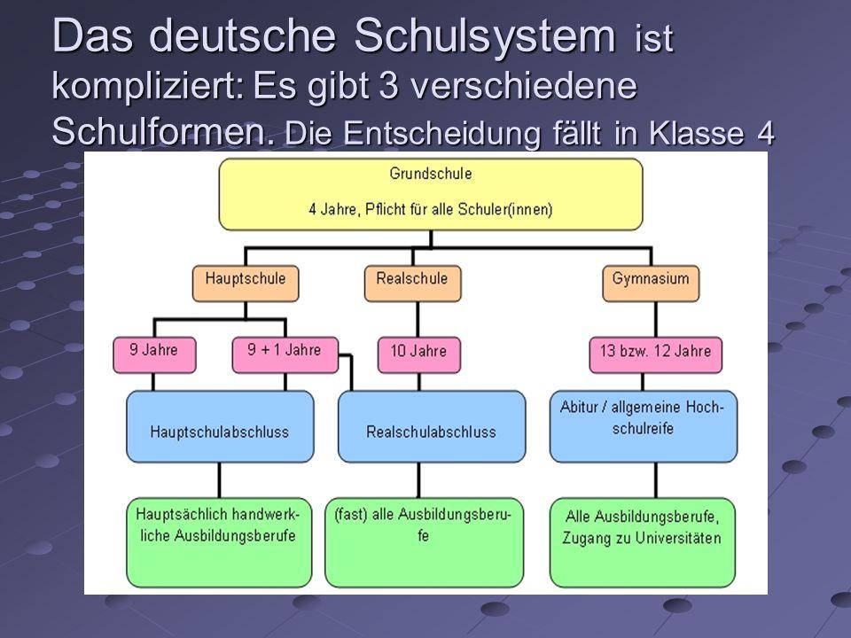 Das deutsche Schulsystem ist kompliziert: Es gibt 3 verschiedene Schulformen. Die Entscheidung fällt in Klasse 4