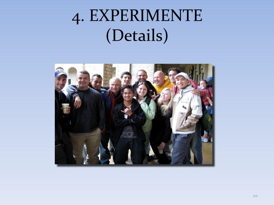 4. EXPERIMENTE (Details) 20