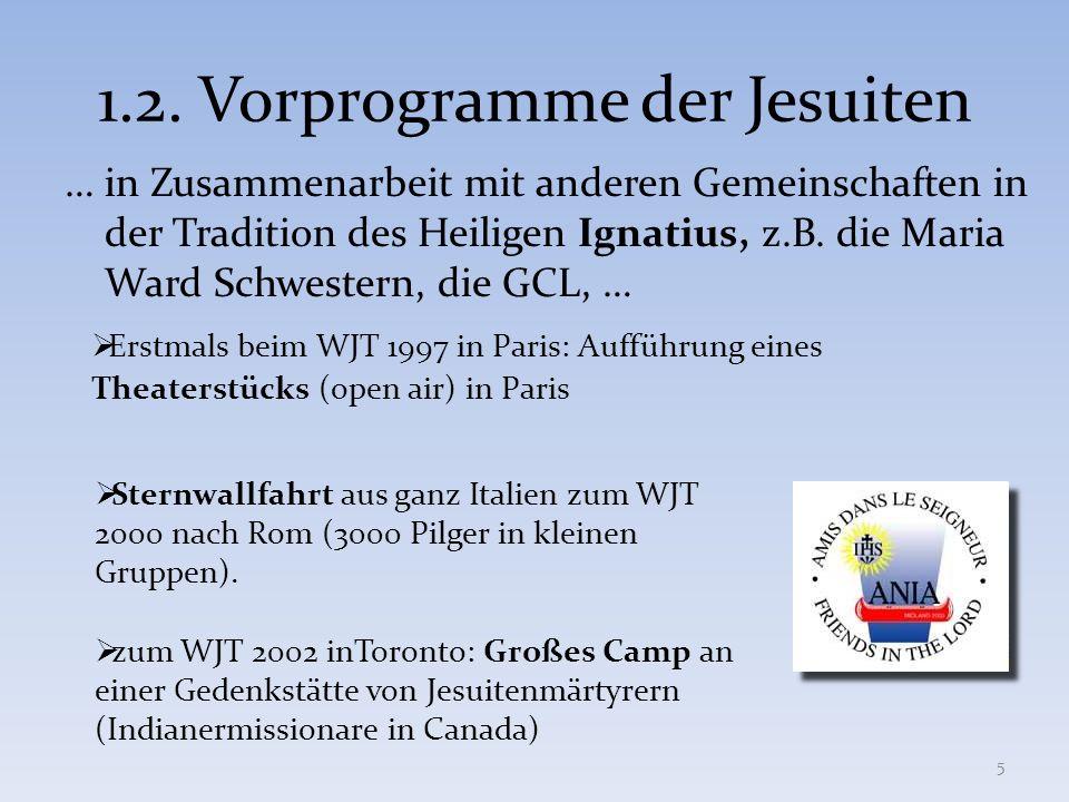 Erstmals unter dem Titel magis zum Weltjugendtag 2005 in Köln.